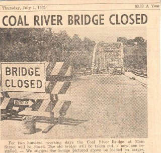 coal river bridge demolished